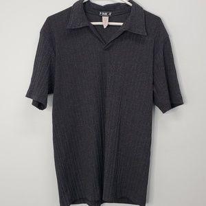YMLA Charcoal Gray Ribbed Men's Vintage Shirt LRG